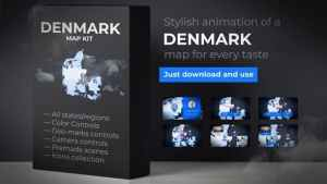 Denmark Map - Kingdom of Denmark Map Kit