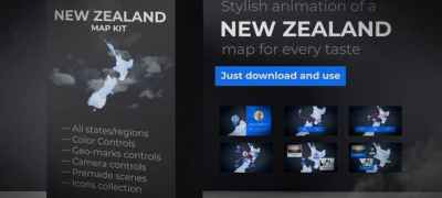 New Zealand Map - Aotearoa NZ New Zealand Map Kit