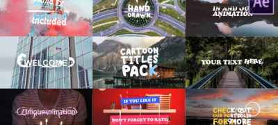 Cartoon Titles Pack | After Effects Template