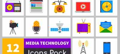 Truly Animated Media Technology Icons