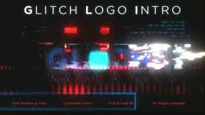 Glitch Logo Intro