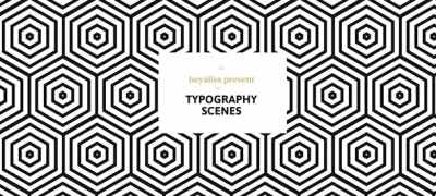 Grafica / Minimalistic Typography Scenes