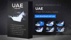 United Arab Emirates Map - Emirates UAE Map Kit