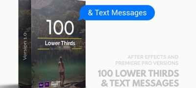 100 Lower Thirds and Messages for Premiere Pro & After Effects