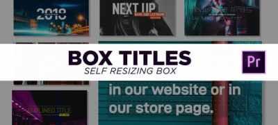 Box Titles - Self Resizing