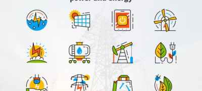 Power and Energy - Flat Animated Icons