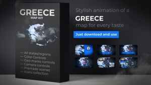 Greece Map - Hellenic Republic Map Kit - Hellas Animation