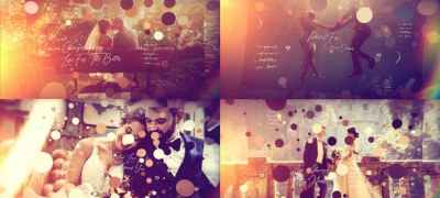 Brush Particle Wedding Slideshow