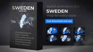 Sweden Animated Map - Kingdom of Sweden Map Kit