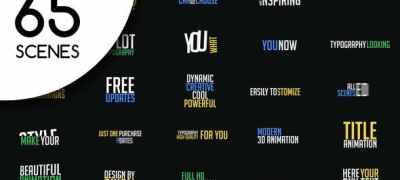 65 Kinetic Typography Scenes | MOGRT