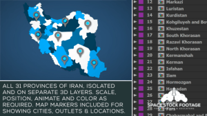 Iran Map Kit