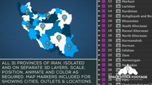 Iran Map Kit