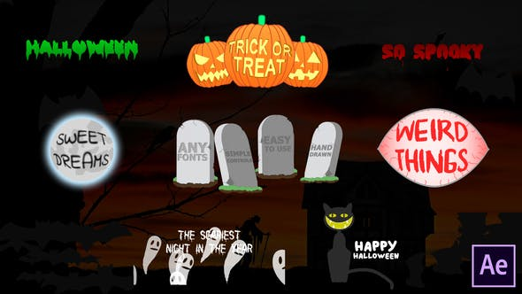 Download Halloween Titles | After Effects – FREE Videohive