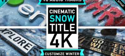 Winter Snow Logo Title