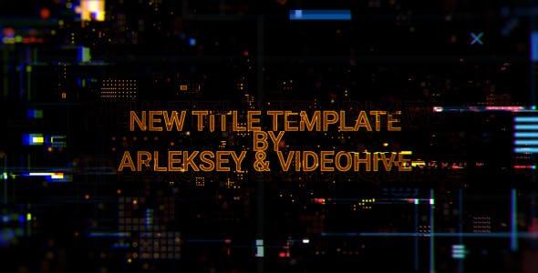 Download Digital Glitch Titles – FREE Videohive