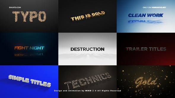 Download Titles – Unique Element 3D Scenes – FREE Videohive