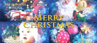Merry Christmas Slideshow / Holiday Greetings / Winter Memories Album / New Year Titles