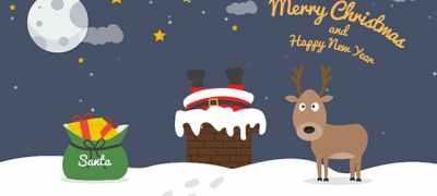Cartoon Christmas Postcard 04