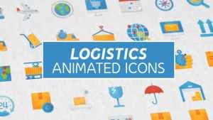 Logistics & Transportation Modern Flat Animated Icons