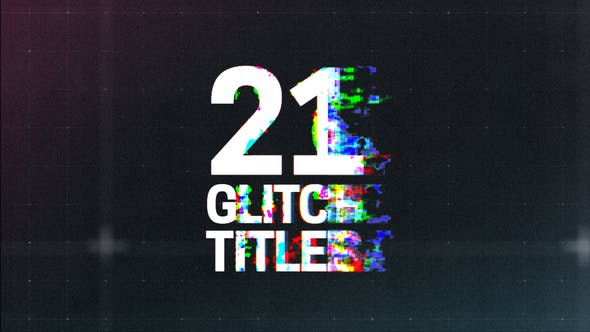 Download Glitch Titles – FREE Videohive