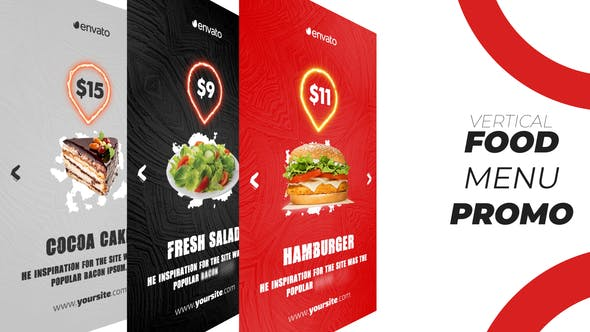 Download Food Menu Promo (Vertical) – FREE Videohive
