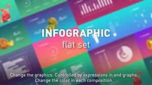 Infographic flat set