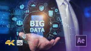 Businessman Open Hand Big Data