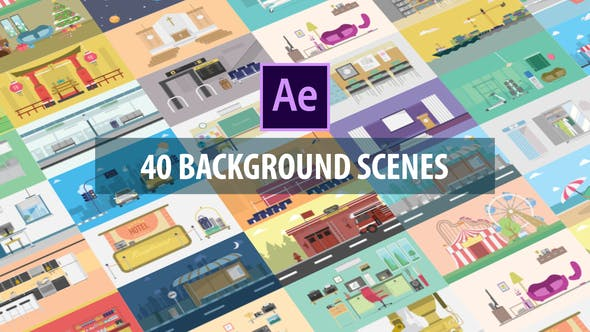 VIDEOHIVE 40 MIX BACKGROUND SCENES