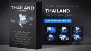 Thailand Animated Map - Kingdom of Thailand Map Kit