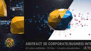 Abstract 3D Corporate Business Intro
