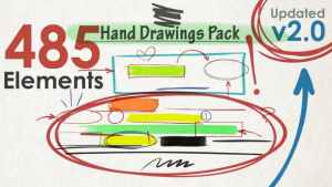 Hand Drawings Pack (485 elements) v2.0