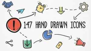 Hand-drawn Icons Pack