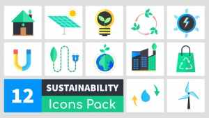Animated Sustainability Icons Pack