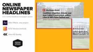 Online Newspaper Headlines Promo