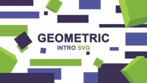 Geometric Logo Intro SVG