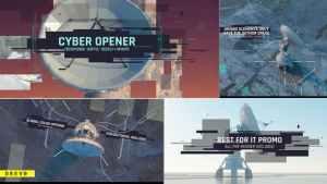 Cyber Opener/ Satellite Antenna/ IT Glitch/ 3D UI/Sci-fi Industrial/ Information Digital Technology