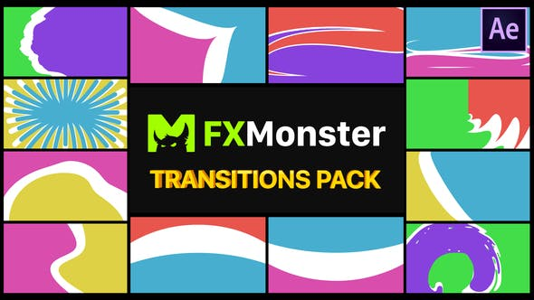 Download Colorful Transitions Pack | After Effects – FREE Videohive