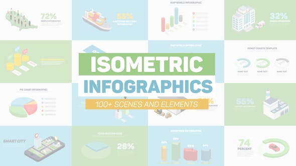 Download Isometric Infographics – FREE Videohive