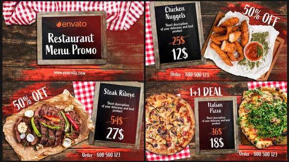 Download BBQ Menu – Restaurant Promo – Videohive