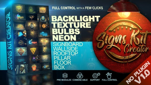 VIDEOHIVE SIGNS KIT CREATOR