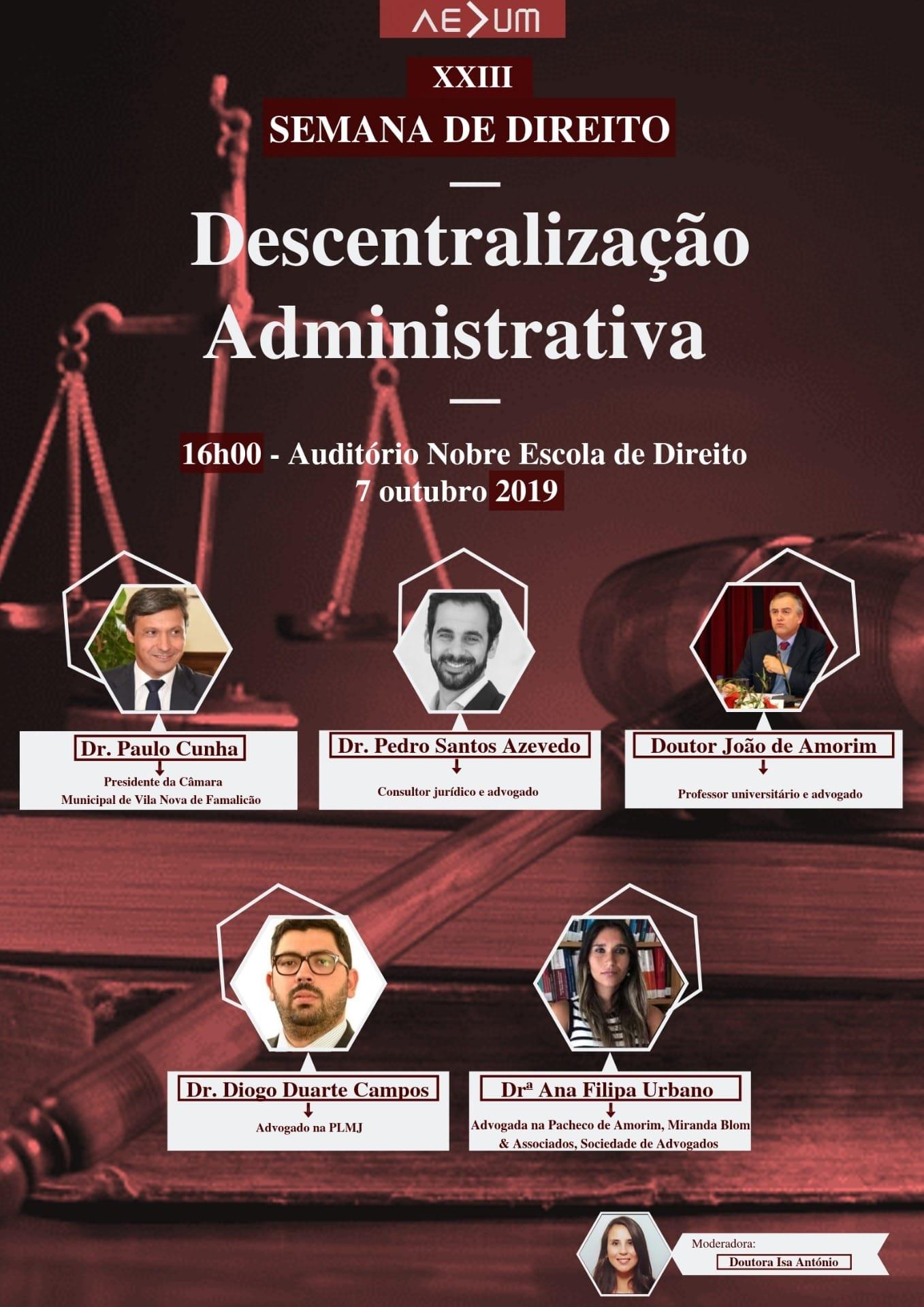 XXIII Semana de Direito – Descentralização Administrativa