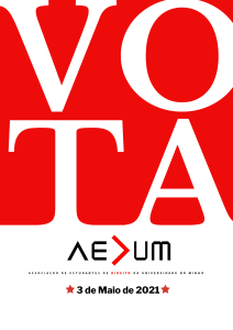 Eleições AEDUM 2021 – Cadernos Eleitorais e Informações