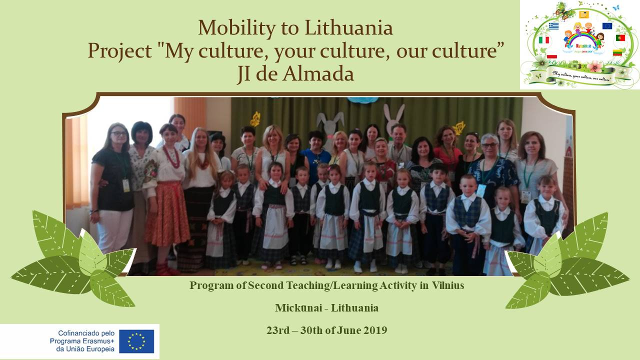 Erasmus+ «My culture, your culture, our culture»