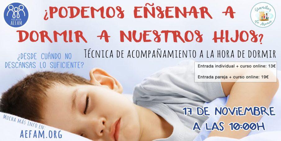 Taller de acompañamiento en el sueño: 17 de Noviembre a las 10:00h en Granitos de Arena (Jerez)