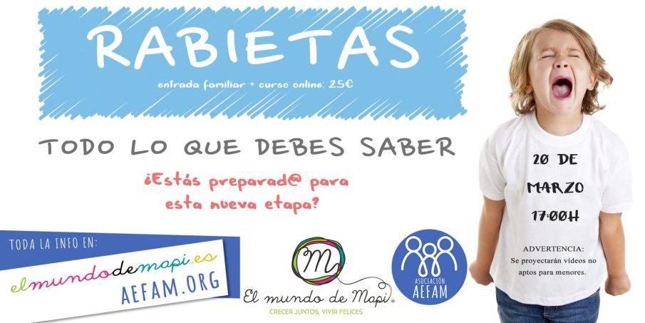 Taller Rabietas – 20 de Marzo a las 17:00h en El Mundo de Mapi (Sevilla) – CANCELADO