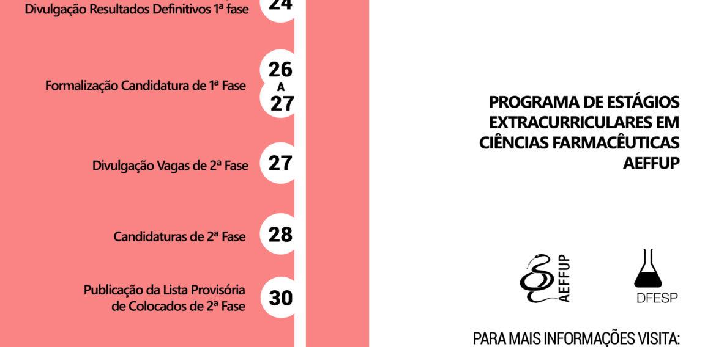 Calendário PEECF AEFFUP 2017