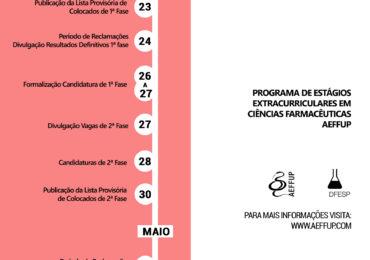 Vagas 3.ª Fase de Candidaturas PEECF AEFFUP 2017