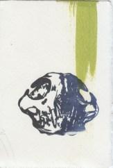 """letterpress monoprint 4"""" x 6"""", oil-based ink on somerset velvet paper"""