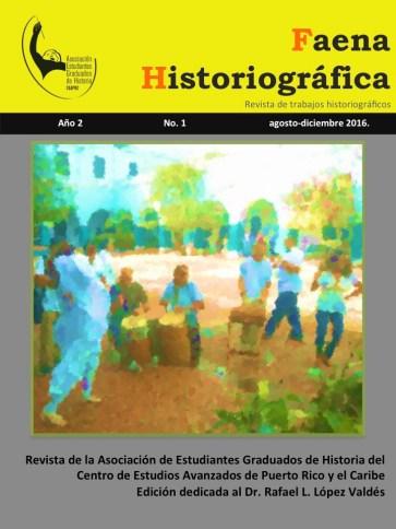 Portada de la segunda edición de la revista Faena Historiográfica.