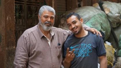 Nasser mit Freund in Ezbet el Nakhl